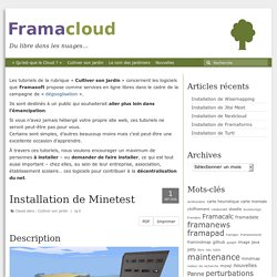 Installation de Minetest – Framacloud