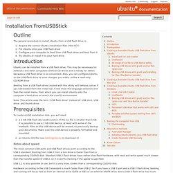 Installation/FromUSBStick
