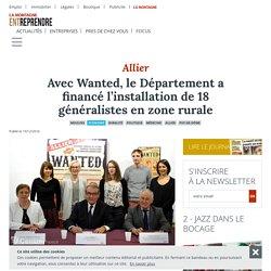 Avec Wanted, le Département a financé l'installation de 18 généralistes en zone rurale - Moulins (03000) - La Montagne