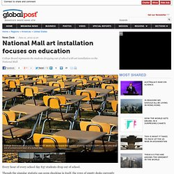 Art installation on National Mall focuses on state of US education