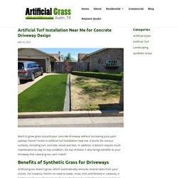 Artificial Turf Installation Near Me for Driveway Improvement