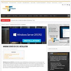 Windows Server 2012 R2 : Installation