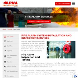 Fire Alarm System Installation and Inspection Services in Surrey, Vancouver