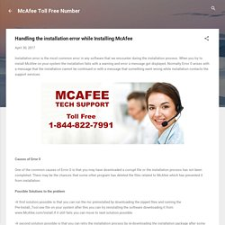 Handling the installation error while Installing McAfee