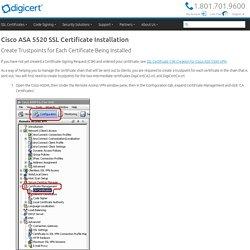 Cisco ASA 5520 SSL Installation Instructions