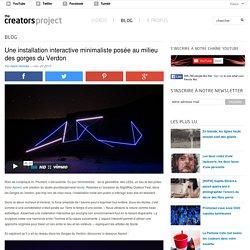 Une installation interactive minimaliste posée au milieu des gorges du Verdon