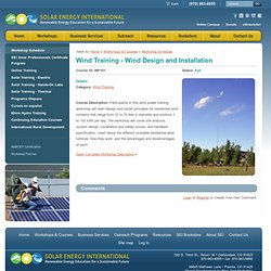 Wind Training - Wind Design & Installation - Solar Energy International