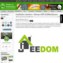 Installation Jeedom + Serveur RPI 433Mhz/Zwave