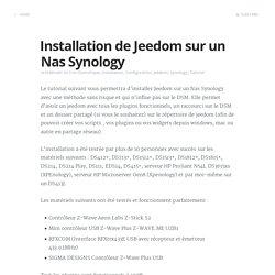 Installation de Jeedom sur un Nas Synology