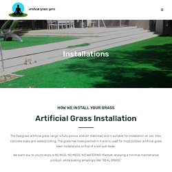 Grass Installation in Johannesburg, Rubber Tracks Johannesburg