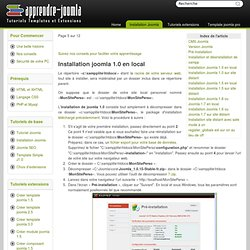 installation joomla en local