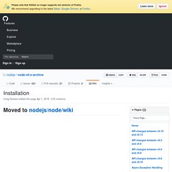 Building and Installing Node.js · joyent/node Wiki