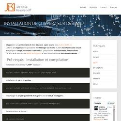 Installation de clipperz sur Debian 7 - Jérémie Kassianoff