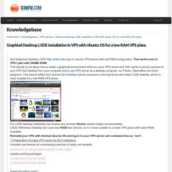 Graphical Desktop LXDE installation in VPS with Ubuntu OS for a low RAM VPS plans - Knowledgebase - CINFU
