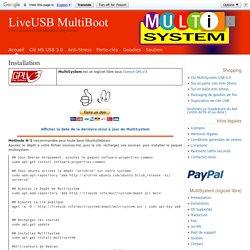 Installation - LiveUSB MultiBoot