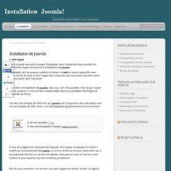 Pré-requi, Quels logiciels pour installer joomla