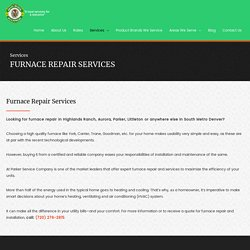 Furnace Repair services- Furnace Installation and Maintanence