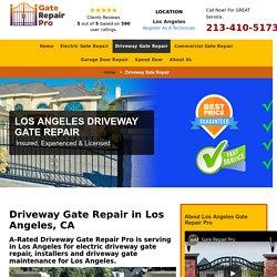 Driveway Gate Repair Los Angeles, CA