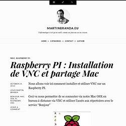 Raspberry PI : Installation de VNC et partage Mac