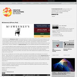 McSweeney's [iPhone, iPad] - Version 2 now available with Dynamic installation by Rafaël Rozendaal (@McSweeneysApp)