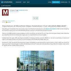 Importance of Storefront Glass Installation