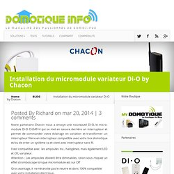 Installation du micromodule variateur Di-O by Chacon