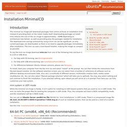 Installation/MinimalCD