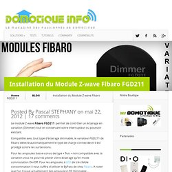 Installation du Module Z-wave Fibaro FGD211