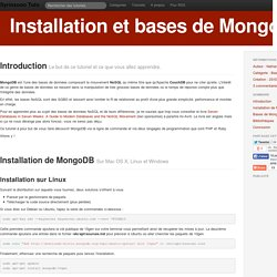 Installation et bases de MongoDB - Syrinxoon Tuts