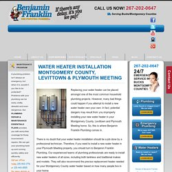water heater installation levittown