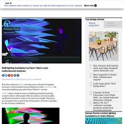 RGB lighting installation by Flynn Talbot casts multicoloured shadows
