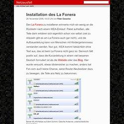 Installation des La Fonera - netzausfall