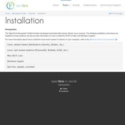 Installation: Open Foris