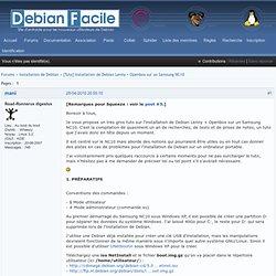 [Tuto] Installation de Debian Lenny + Openbox sur un Samsung NC10 (Page 1) / Installation / Debian-facile