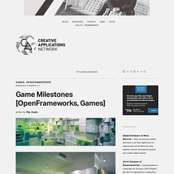 Game Milestones - Installation by The Product in the Computer Game Museum in Berlin #OpenFrameworks #Games