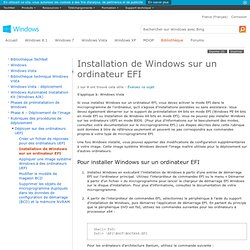 Installation de Windows sur un ordinateur EFI