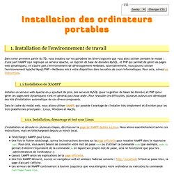 Installation des ordinateurs portables