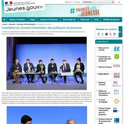Installation du Conseil d'orientation des politiques de jeunesse