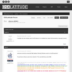 Atheros AR5B93 - Post Installation - OSXLatitude Forum
