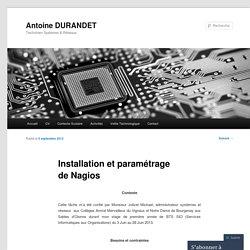 Installation et paramétrage de Nagios