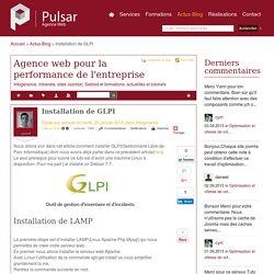 Installation de GLPI - Agence web pour la performance de l'entreprise