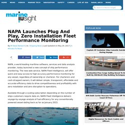 NAPA Launches Plug And Play, Zero Installation Fleet Performance Monitoring