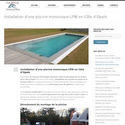 Installation d'une piscine monocoque LPW en Côte d'Opale