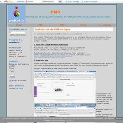 Installation de PMB en ligne - PMB