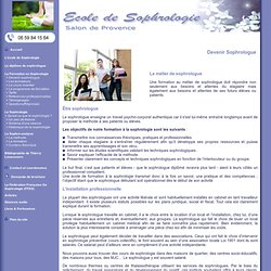 Devenir sophrologue : le métier de sophrologue, l'installation du sophrologue professionnelle