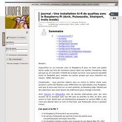 Une installation hi-fi de qualitay avec le Raspberry Pi (Arch, Pulseaudio, Shairport, trolls inside)