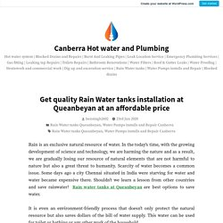 Get quality Rain Water tanks installation at Queanbeyan at an affordable price