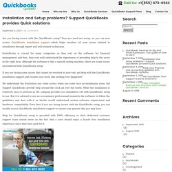 Installation and Setup problems? Support QuickBooks provides Quick solutions - QuickBooksUpdates