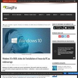 METZ Julien Windows 10 v1809, échec de l'installation et Freeze du PC au redémarrage