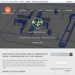 Installation du plugin SketchUp STL - Référence 3D